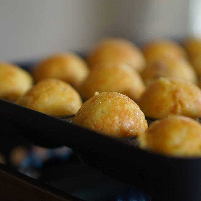カリっとろ米粉たこ焼き小麦粉より美味と、わたしは思う自家製マヨネーズとおたふくソース#米粉たこ焼き#グルテンフリー #イワタニカセットコンロ #たこ焼き#たこ#おやつ #こどもおやつ#お料理教室かなえ#沖縄