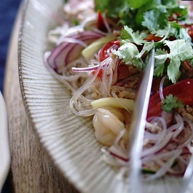 ジメッとした日に オリエンタルな アジアン料理はぴったりさっぱりとしたヤムウンセンは止まりませんね!素敵な日曜日をお過ごしください♫